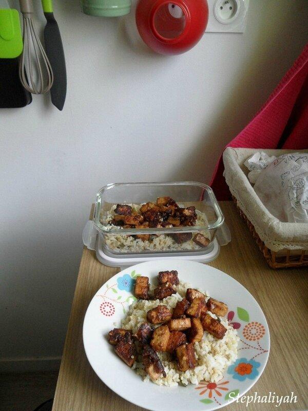 Tofu caramélisé sauce soja sésame - 10 juillet 2017