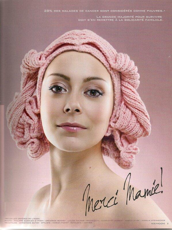 perruque tricotée