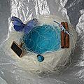 Petit nid bleu