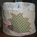grand bac de rangemen en tissu fait main, handmade fabric storage bag (13)