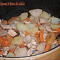 Cocotte de légumes et blanc de dinde