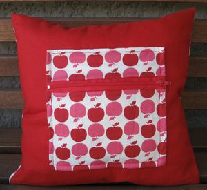 coussin pommes verso