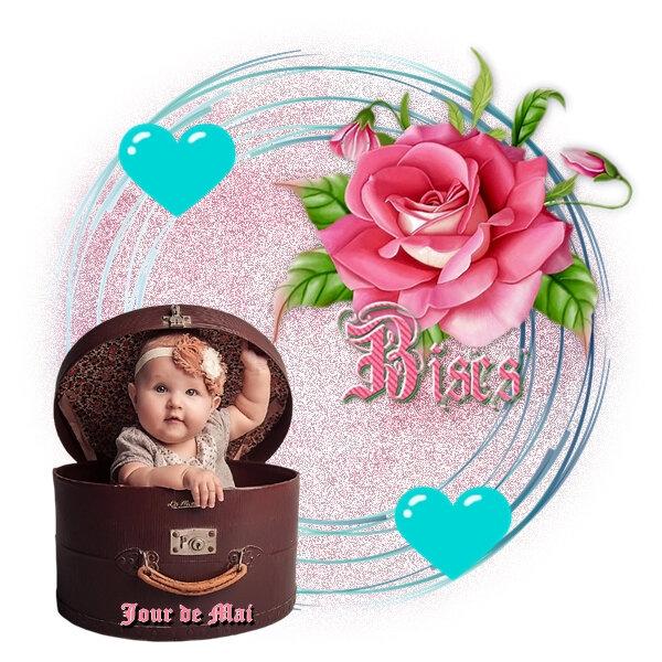Bisous Bébé carton chapeau