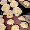 Muffins au gingembre, pépites de chocolat et amandes