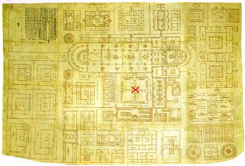 408px-Pianta_dell'abbazia_di_san_gallo,_816-830,_san_gallo,_stiftbibliothek corrigé copie