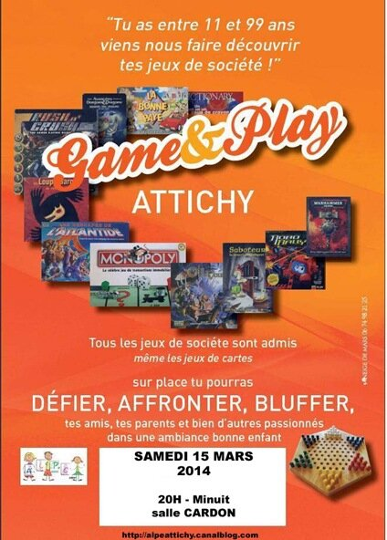 Affiche Game & play2 mars 2014