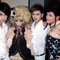 With His Dancers and a Performer. From Kaya's FanClub. Chocolat's Outfit.