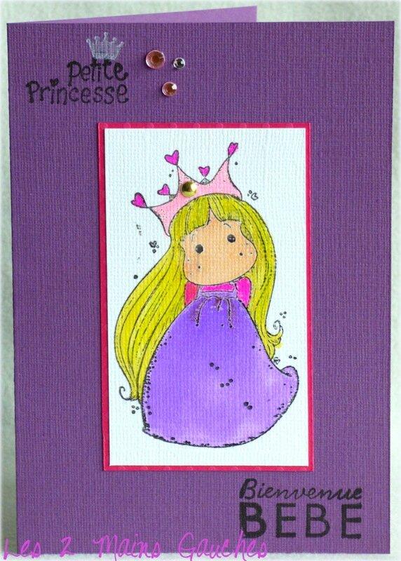 carte de naissance fille petite princesse