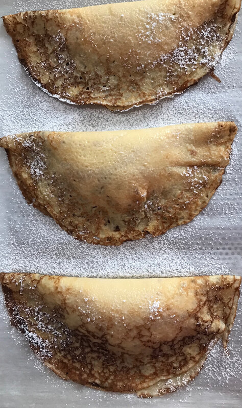 crêpes soufflées avant cuisson