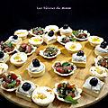 Un mini mezzé libanais en petites bouchées apéritives