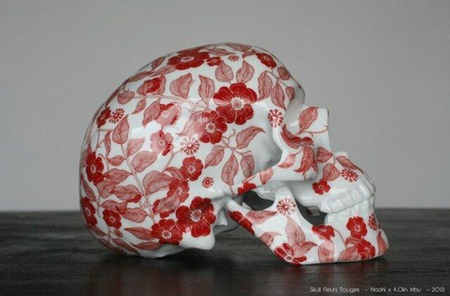 Floral Porcelain Skull by NooN