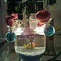 décoration de table illuminer