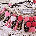 ♥ pinky ♥ collier rouleaux en tissu les yoyos de calie