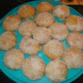 Sablés confiture d'abricots et noix de coco