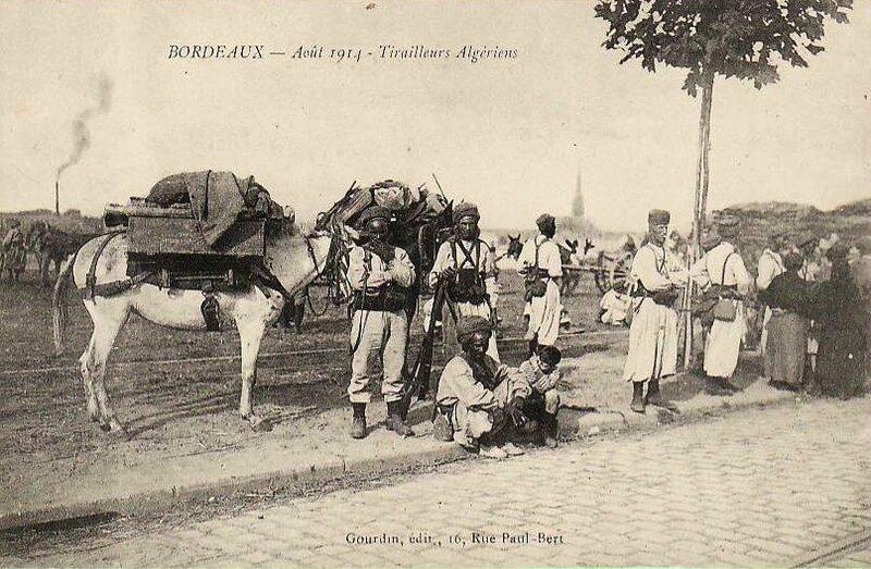 tirailleurs algériens Bordeaux