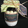Cadeau gourmand : kit sos muffins façon forêt noire