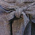 Manteau AGLAE en laine bouillie gris anthracite chiné - Taille 54 (5)