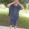 Pyjama estival pour garçon : short et tunique à rayures des nouveaux intemporels pour enfants#21
