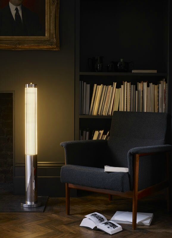Davey-Lighting-Pillar-floor-light-chrome-library-sitting-room-lighting-lifestyle-Portrait
