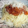 Mon spaghetti maison.