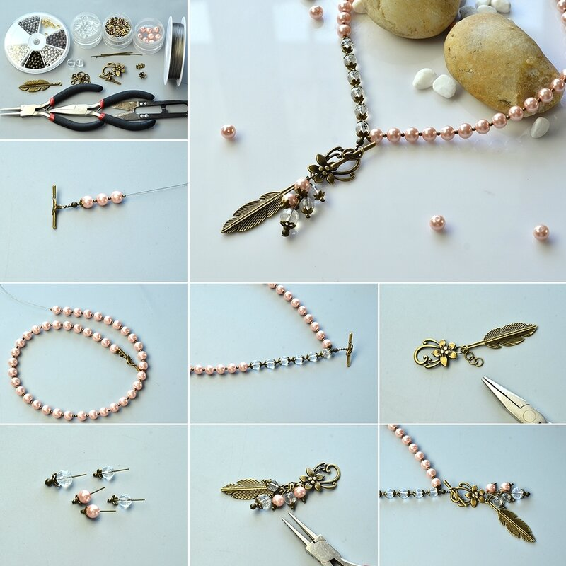 1080-How-to-Make-Pink-Pearl-Bead-Pendant-Necklace