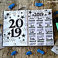 Pages calendaires bujo 2019