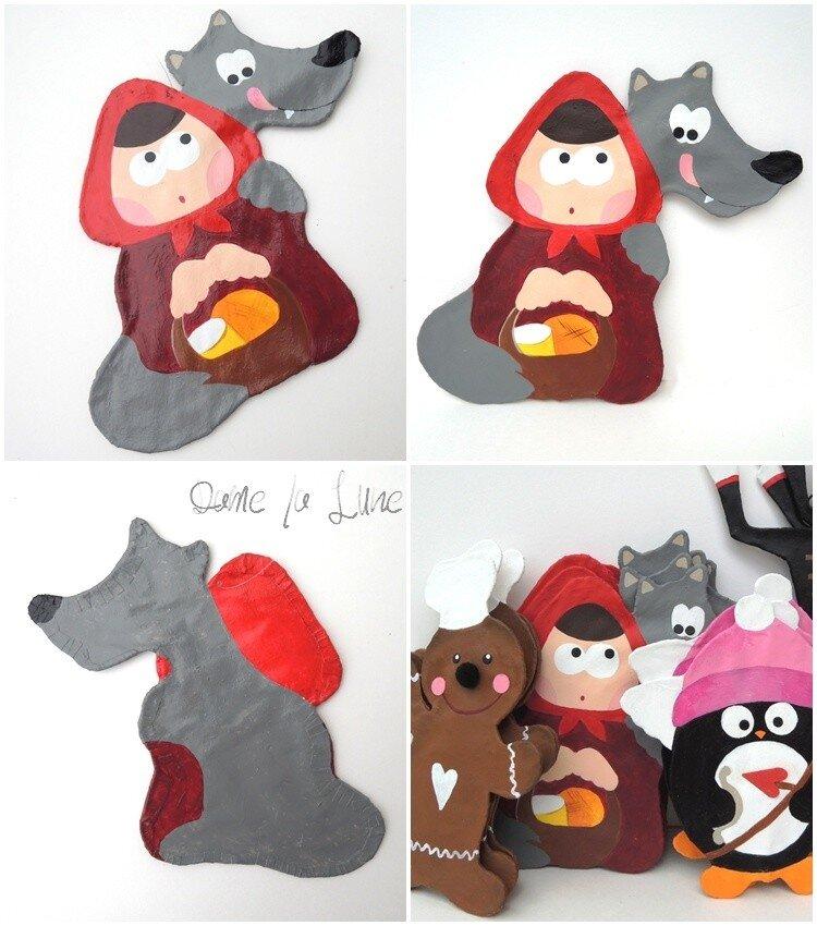 a*- Le petit chaperon rouge & le loup