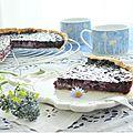 Une tarte savoureuse aux myrtilles.......