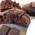 Cookies chocolat aux pépites de chocolat, du chocolat et encore du chocolat!