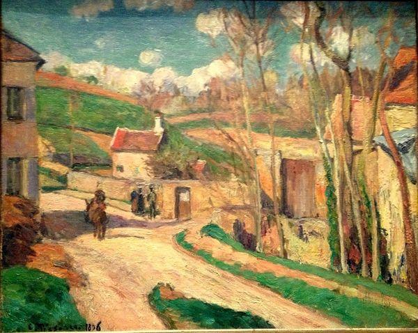 pissaro un carrefour a lhermitage Pontoise 1876