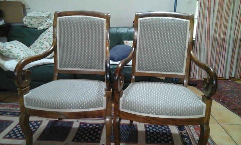 paire de fauteuil restauration côté sièges