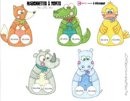 marionnettes à doigts animaux