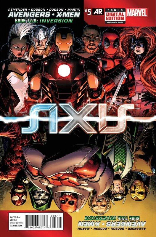 avengers x-men axis 5