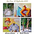 Clémence Caruana / Michel Rousselin - Galerie ARTIEMPO à TOULOUSE Septembre 2014