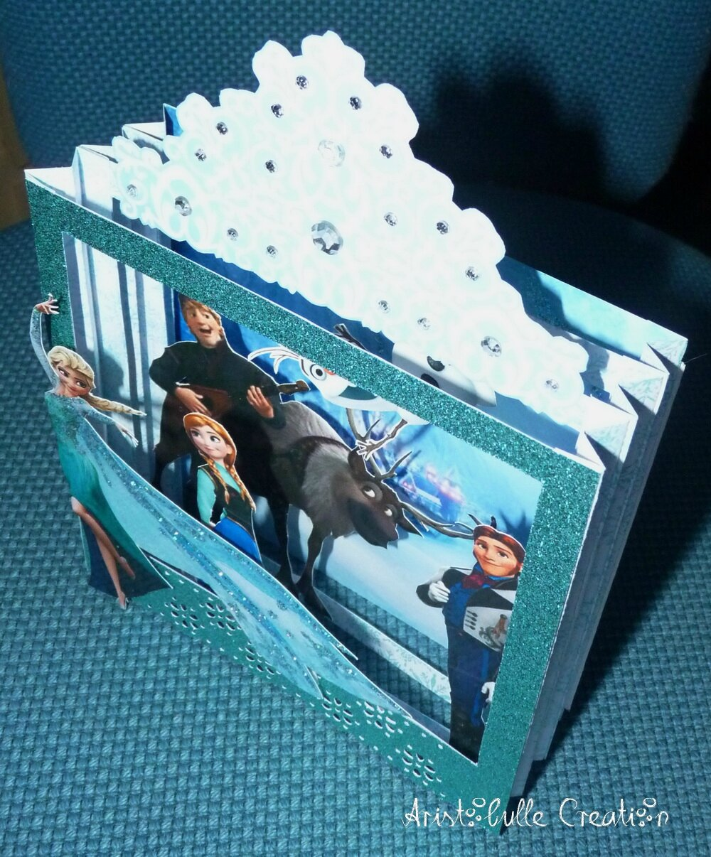Carte diorama Reine des Neiges - profil face