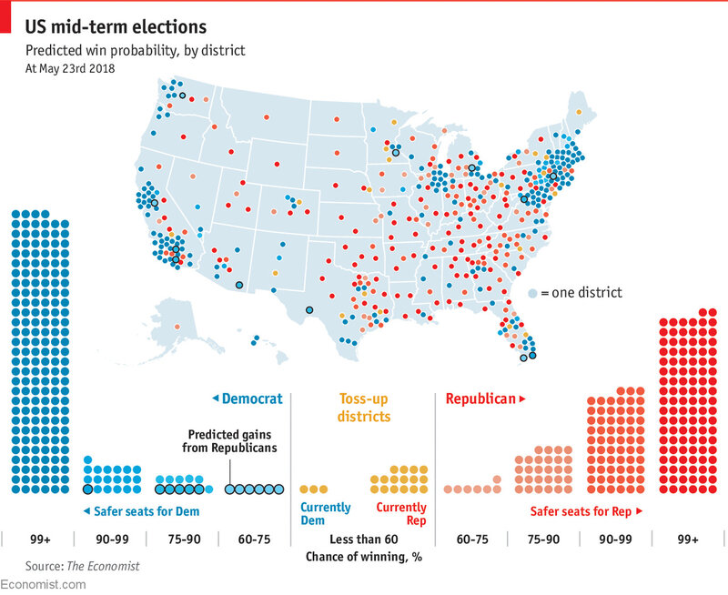 Midterms 2018 maps of battlegrounds