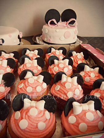 minnie mouse cupcakes prunillefee