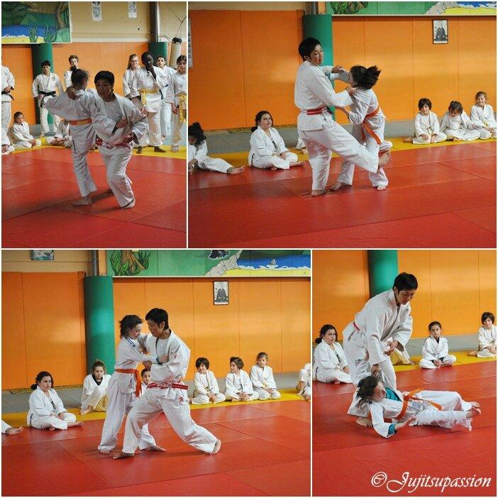 travail judo debout