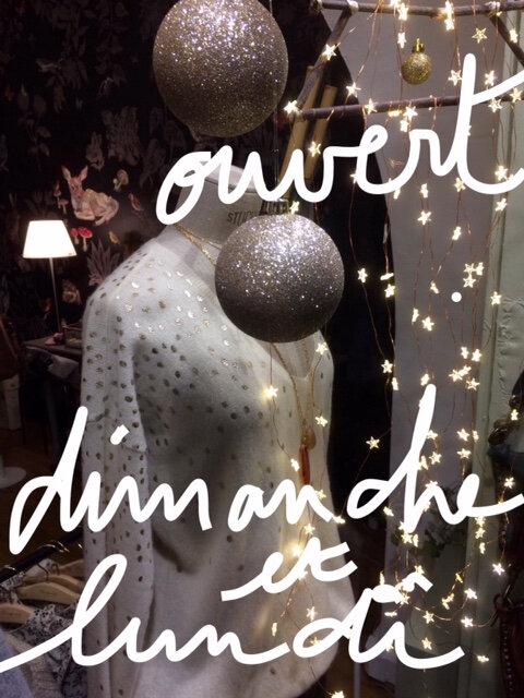 ouvertures exceptionnelles Dimanche 16 et Lundi 17 Décembre 2018 boutique Avant Après Montpellier