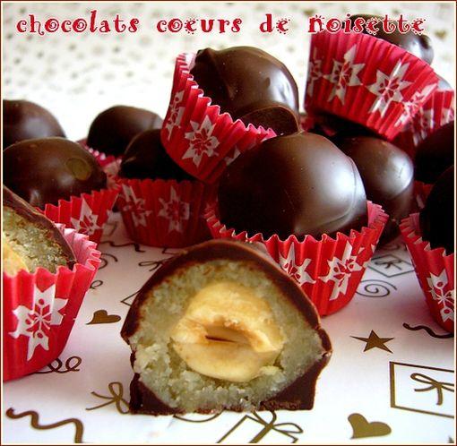 chocolat coeurs de noisette