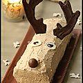 Bûche du renne du père noël...chocolat-praliné.