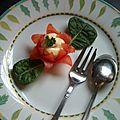 tomate cerise en fleur de lotus