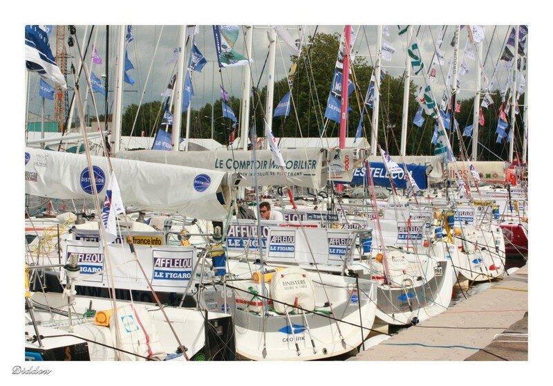 Course du Figaro - Départ à Ouistreham (14)