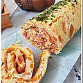 Tortilla roulée aux légumes et jambon sec
