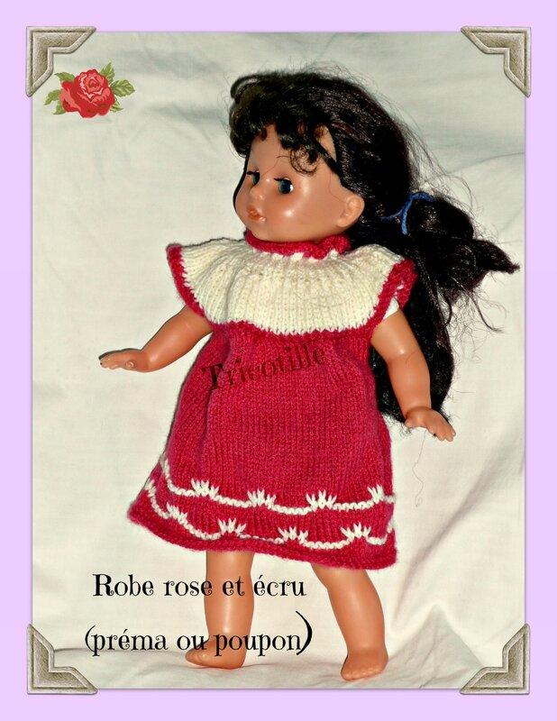 Robe rose préma ou poupon