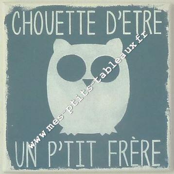 Ex de PERSONNALISATION Chouette + P'tit frère