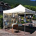 Exposition aquarelles et sculptures au bourget du lac