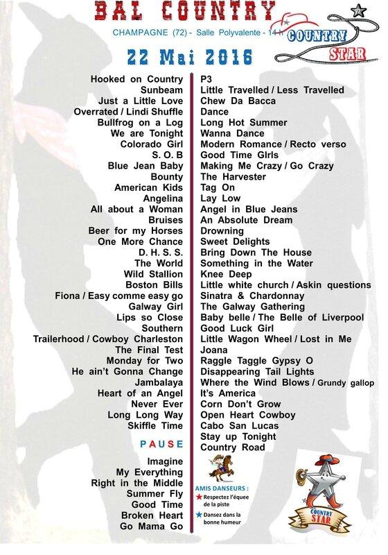 COUNTRY STAR Playlist 22 mai 2016