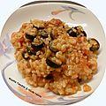 Risotto aux olives noires & tomates