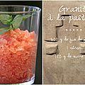 Granité à la pastèque